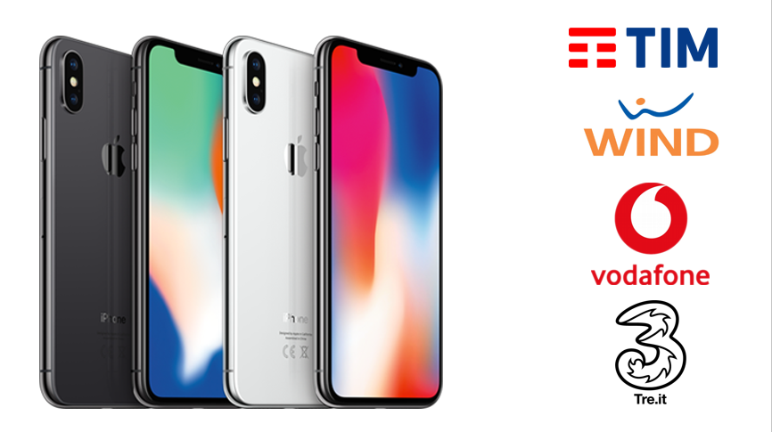 Iphone x in italia le offerte di vodafone tim wind e for Iphone x 3 italia