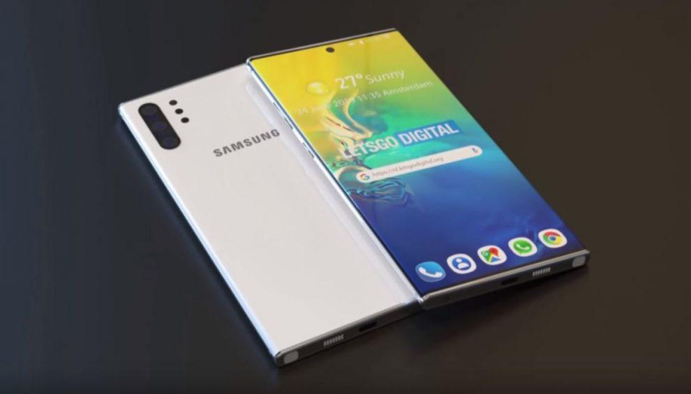 Come sarà il Samsung Galaxy Note 10